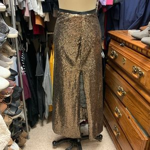 """""""Skies Are Blue"""" Sequin Maxi Skirt"""